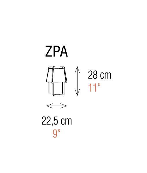 Medidas apliques de pared 28 cm de alto ZONA