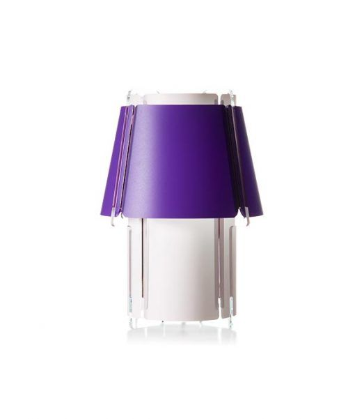 Lámpara de mesa 28 cm de alto ZONA morada