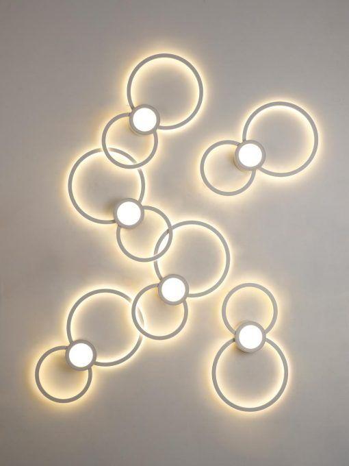 Aplique de pared círculos MURAL LED detalle
