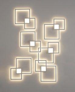 Aplique de pared cuadrados MURAL LED detalle