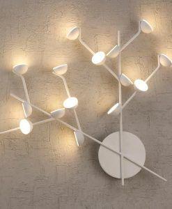 Aplique de salón blanco ADN LED detalle