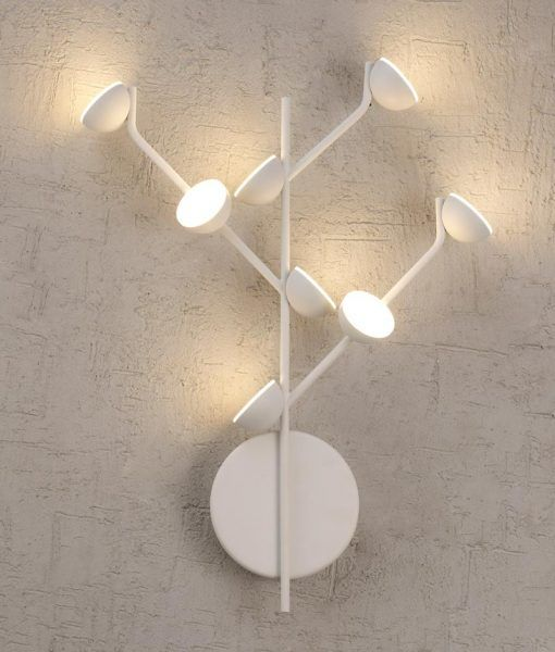 Aplique dormitorio blanco ADN LED detalle