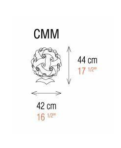 Medidas lámpara de mesa 42 cm construcción modular COL