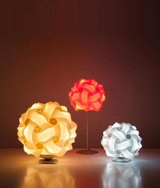 Lámpara de mesa 27 cm contrucción modular COL - Lámparas Luján + Sicilia