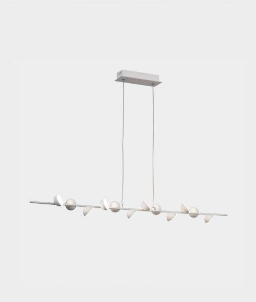 Lámpara colgante lineal blanca ADN LED