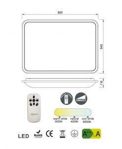 Medidas lámpara de cocina regulable FASE LED