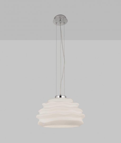Lámpara de cristal opal NUBOLE detalle 2