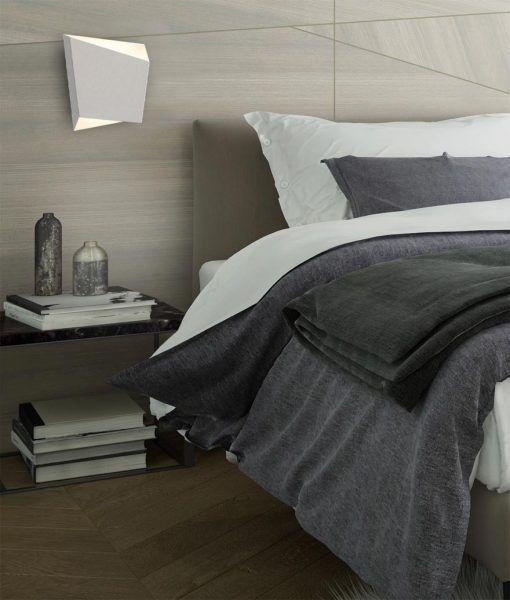 Lámpara de dormitorio blanca ASIMETRIC ambiente