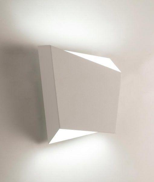 Lámpara de dormitorio blanca ASIMETRIC ambiente detalle luz