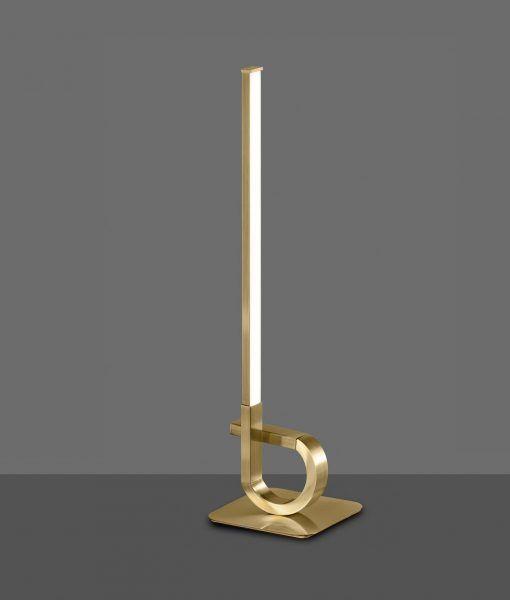 Lámpara de mesa cuero satinado CINTO LED