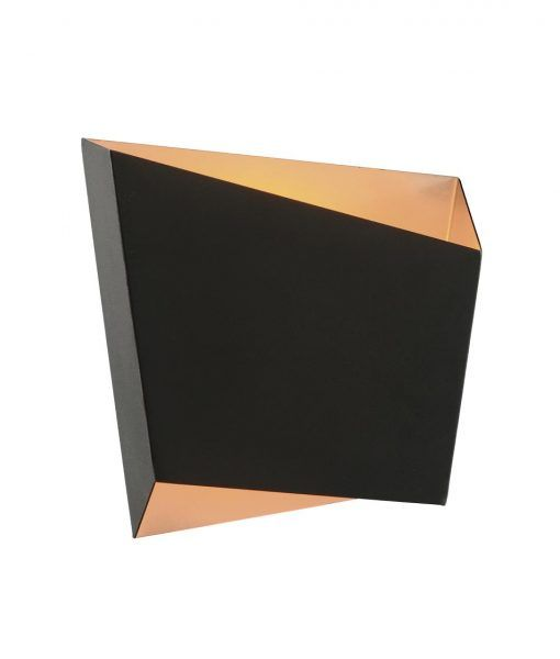 Lámpara de salón negra oro ASIMETRIC