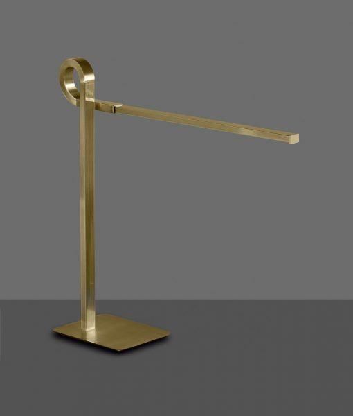 Lámpara de sobremesa cuero satinado CINTO LED
