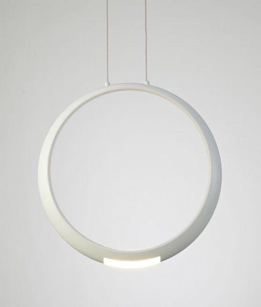 Lámpara de techo blanca RING LED detalle