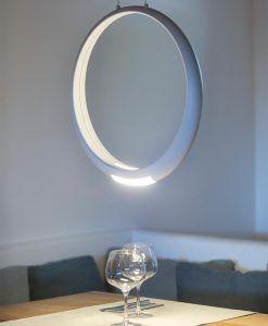 Lámpara de techo blanca RING LED ambiente