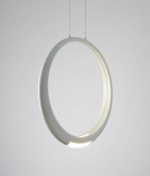 Lámpara de techo blanca RING LED detalle 2