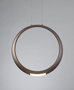 Lámpara de techo bronce RING LED detalle