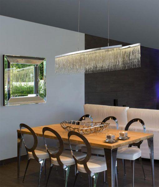 Lámpara de techo lineal CINNA LED ambiente