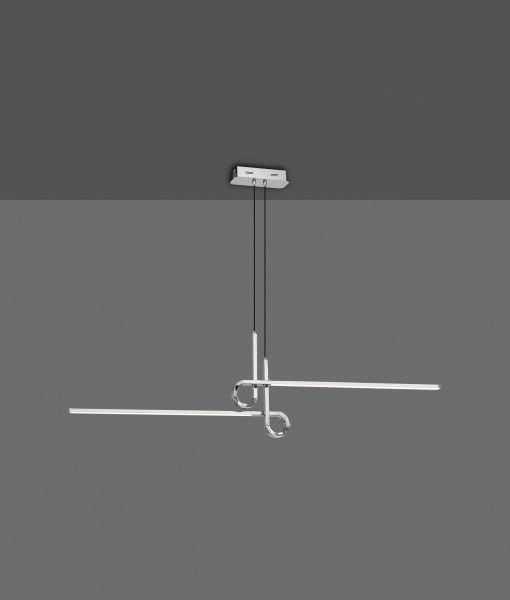 Lámpara en suspensión cromo CINTO LED