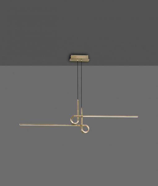 Lámpara en suspensión cuero satinado CINTO LED