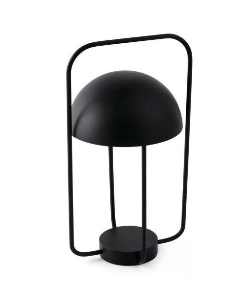 Lámpara mesa portátil negra JELLYFISH LED