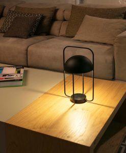 Lámpara mesa portátil negra JELLYFISH LED ambiente