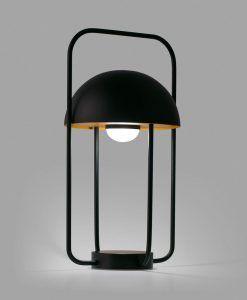Lámpara mesa portátil negra JELLYFISH LED detalle