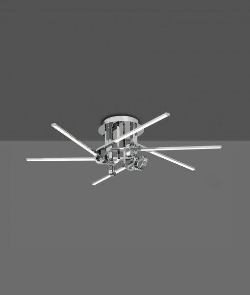 Plafón 6 brazos cromo CINTO LED
