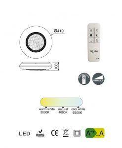 Medidas plafón elegante regulable con mando OPERA LED