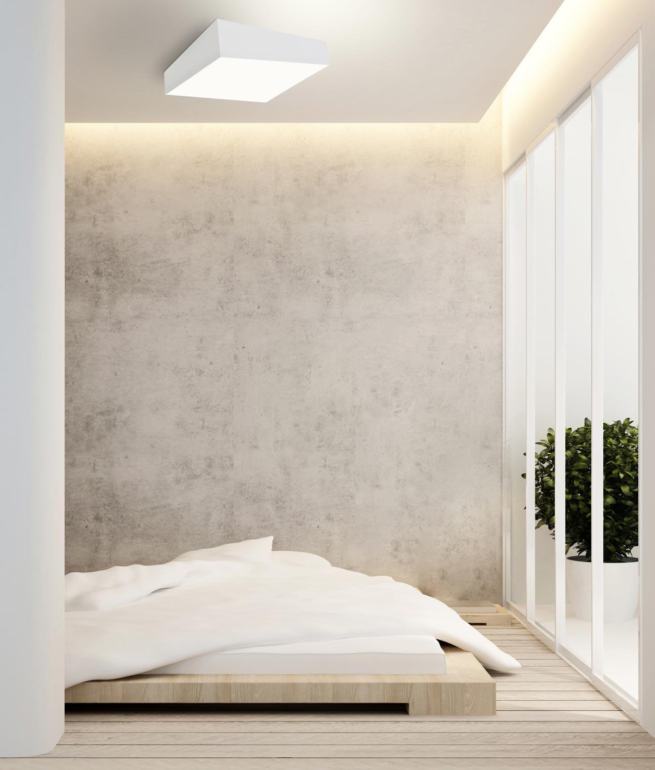 Plaf n grande minimalista blanco mini la casa de la l mpara for Mini casa minimalista