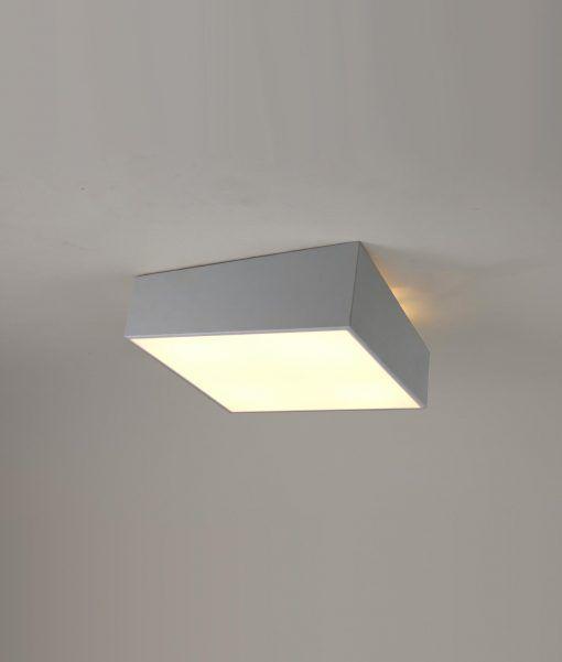 Plafón para dormitorio minimalista plata MINI