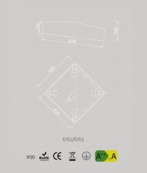 Medidas plafón para dormitorio minimalista MINI