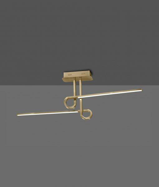 Semi plafón 2 brazos cuero satinado CINTO LED
