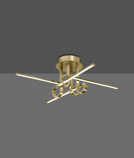 Semi plafón 4 brazos cuero satinado CINTO LED