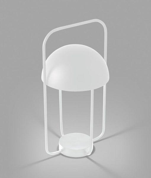 Sobremesa portátil moderno blanco JELLYFISH LED detalle luz