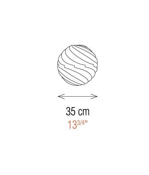 Medidas lámpara de mesa 35 cm esfera TWISTER