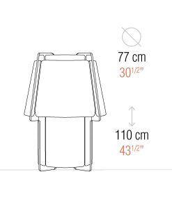 Medidas lámpara de suelo 110 cm de alto ZONA