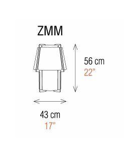 Medidas lámpara de mesa 56 cm de alto ZONA