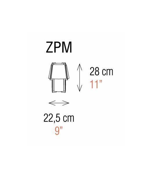 Medidas lámpara de mesa 28 cm de alto ZONA