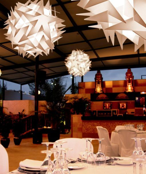 Lámpara de techo 71 cm diámetro BISOLITE ambiente
