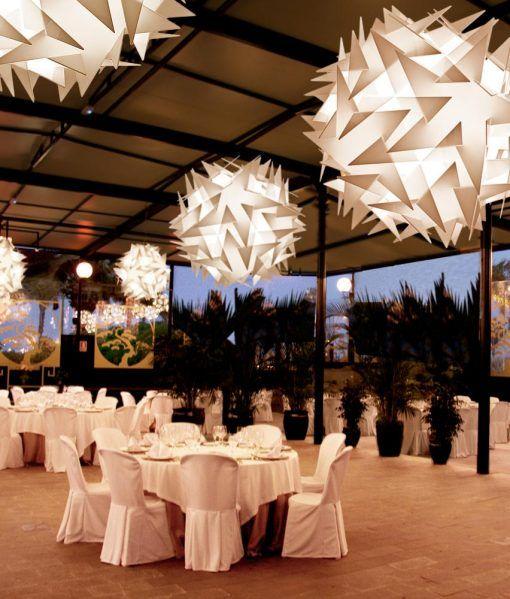 Lámpara de techo 71 cm diámetro BISOLITE ambiente 2