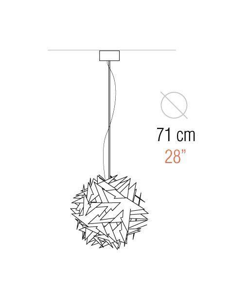 Medidas lámpara de techo 71 cm diámetro BISOLITE