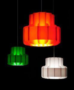 Ambiente lámpara colgante look años 60 BANDA