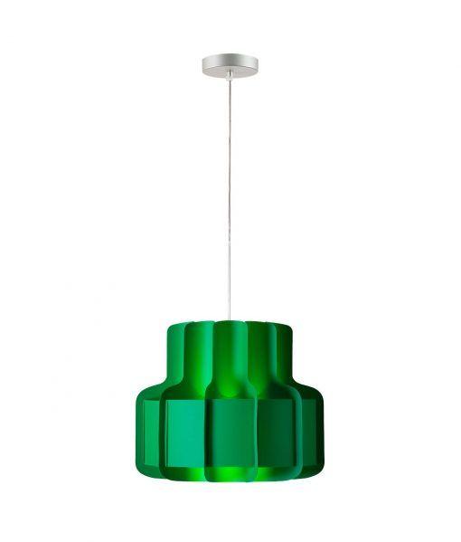 Lámpara colgante look años 60 BANDA verde
