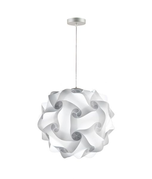 Lámpara colgante 42 cm diámetro COL blanca