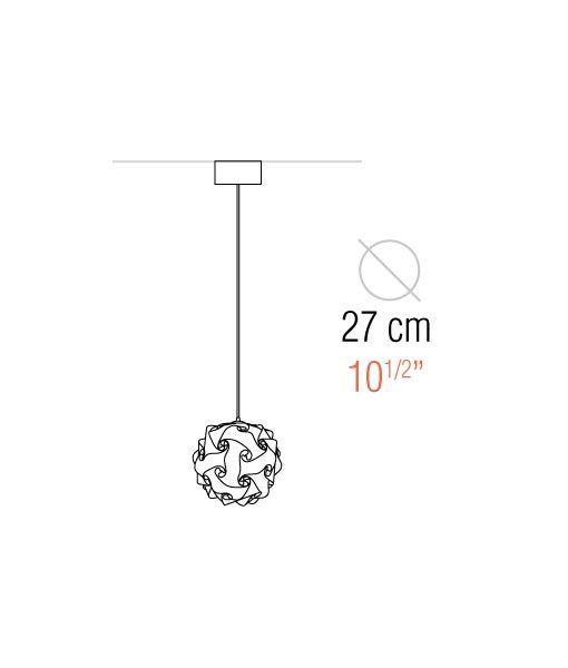 Medidas lámpara colgante 27 cm diámetro COL