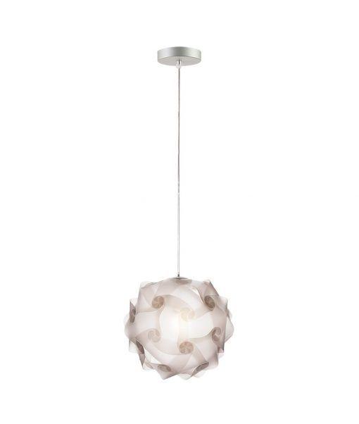 Lámpara colgante 27 cm diámetro COL translúcida