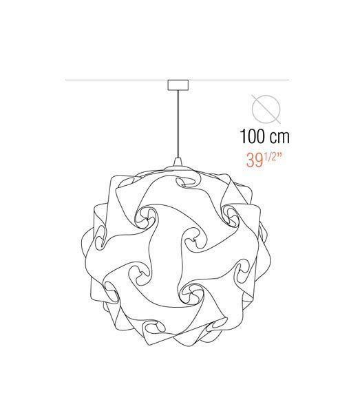 Medidas lámpara colgante 100 cm diámetro COL