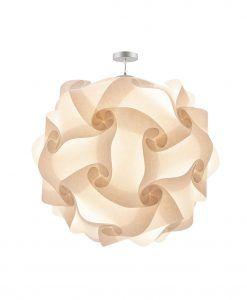 Lámpara colgante 100 cm diámetro COL pergamino crema
