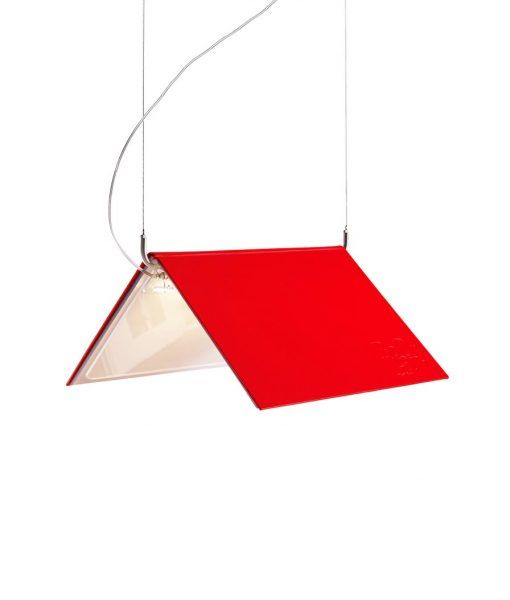 Lámpara de suspensión BOOKLAMP LED roja