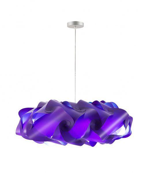 Lámpara de techo 95 cm diámetro NUBE morada